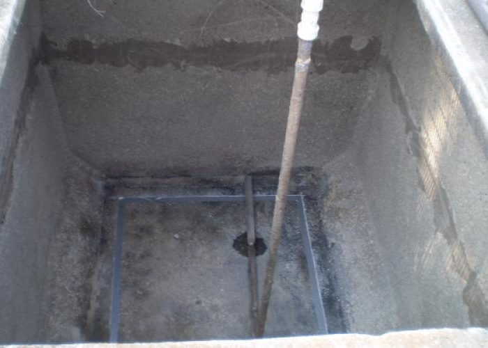 Leaking Waste Water Treatment Infrastructure - Before