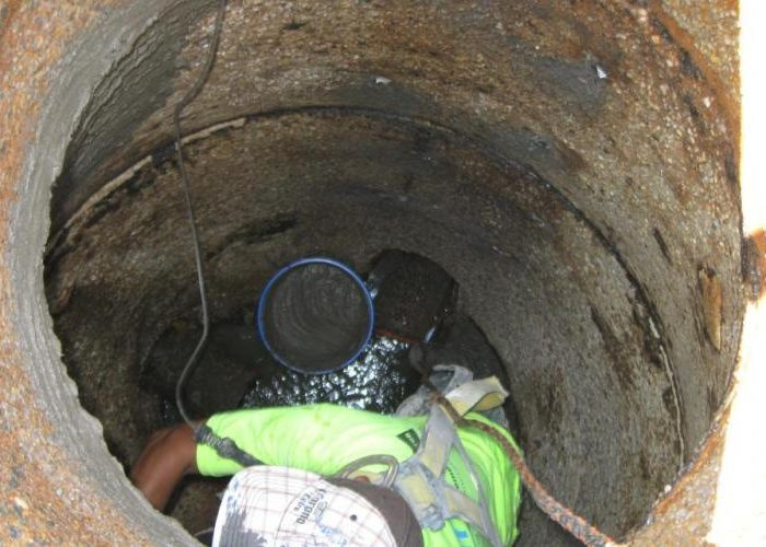 Manhole Rehabilitation Mortar Application