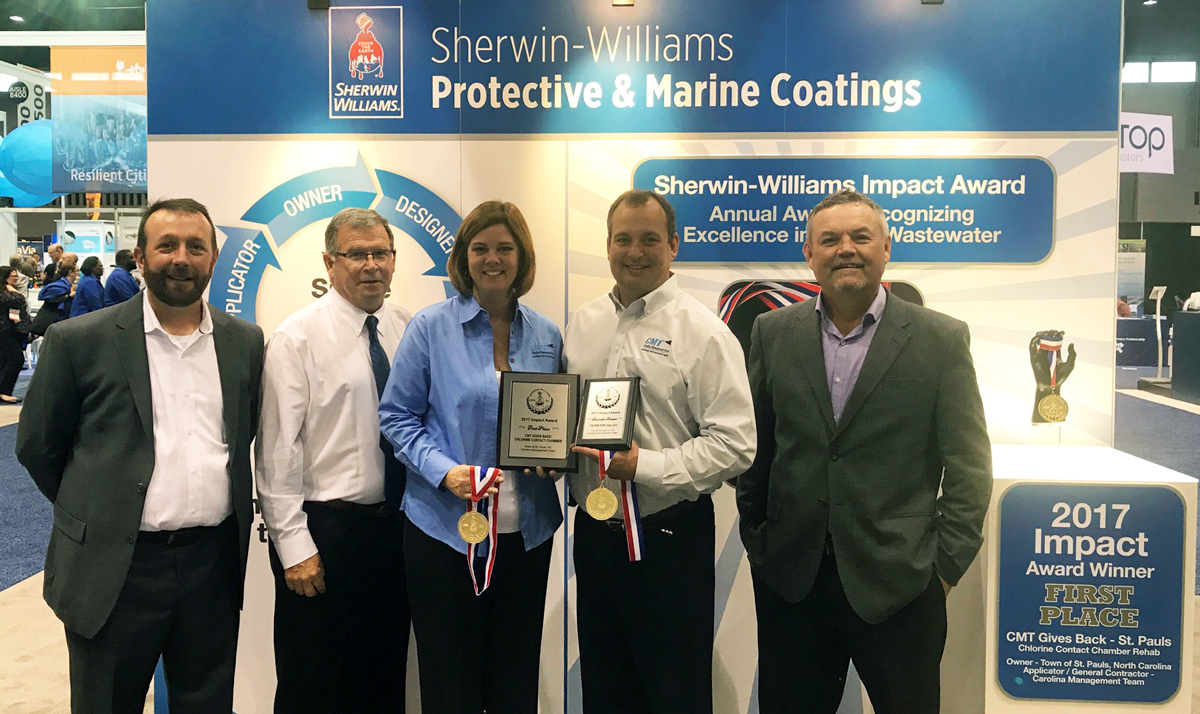 1st place winner for Sherwin-Williams Impact Award