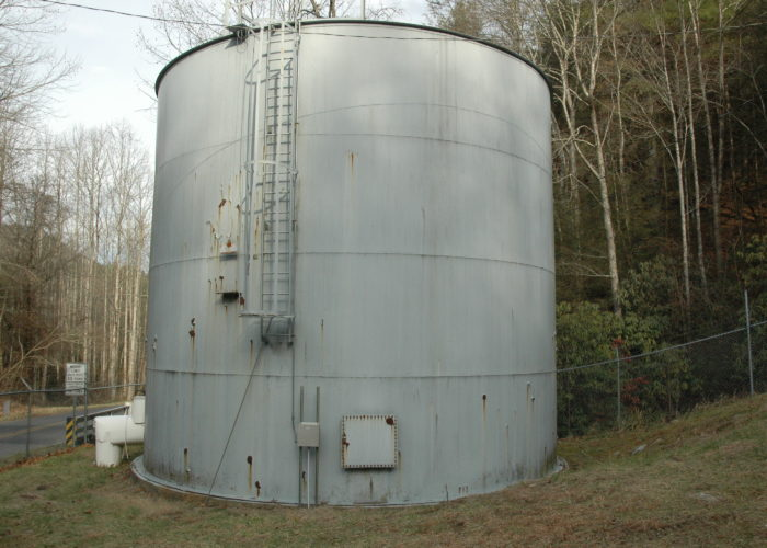 Steel Tank Painting - Before - Town of Robbinsville
