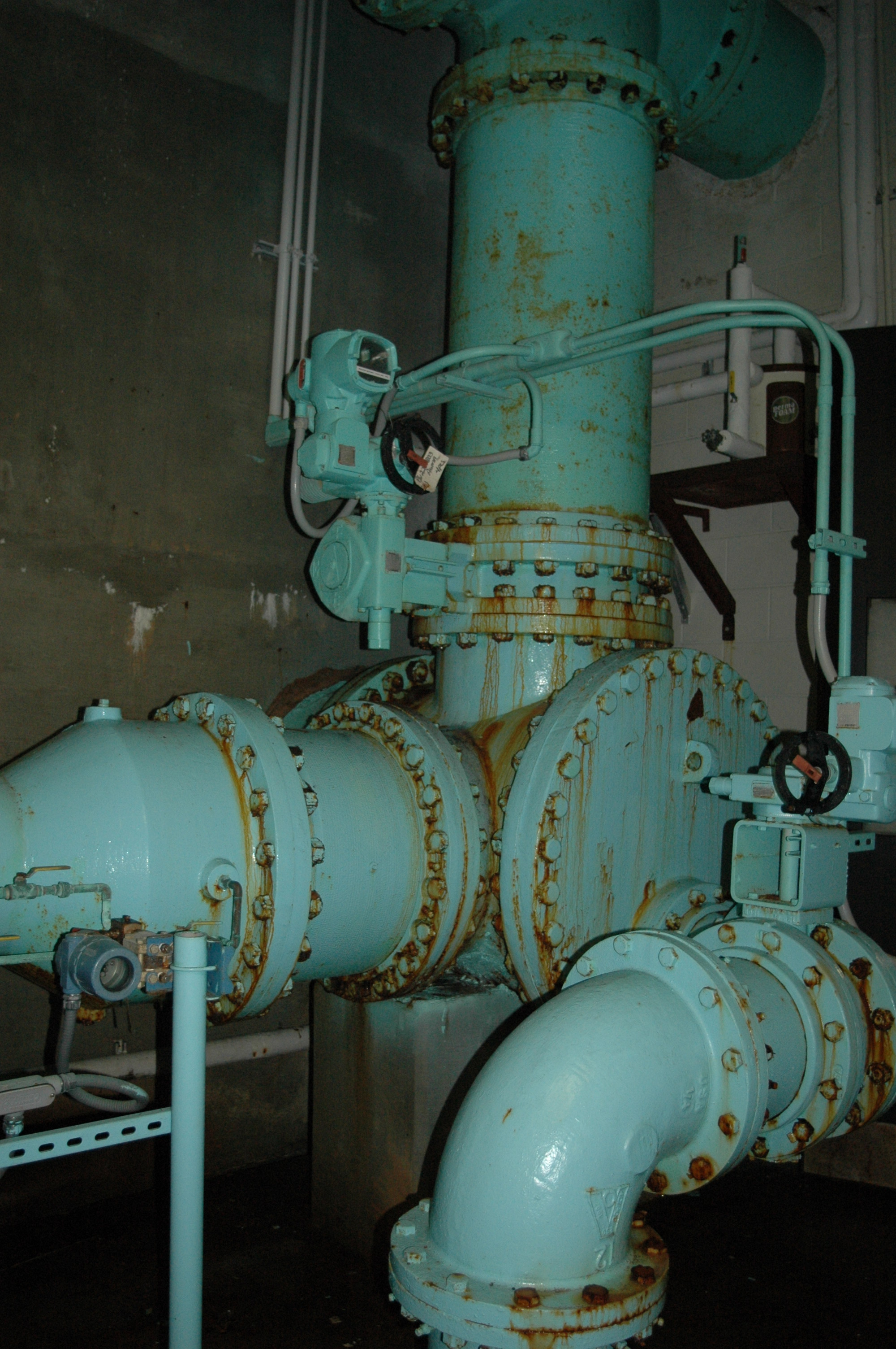 Corrosion Control Pipe Gallery - Before - North Fork WTP